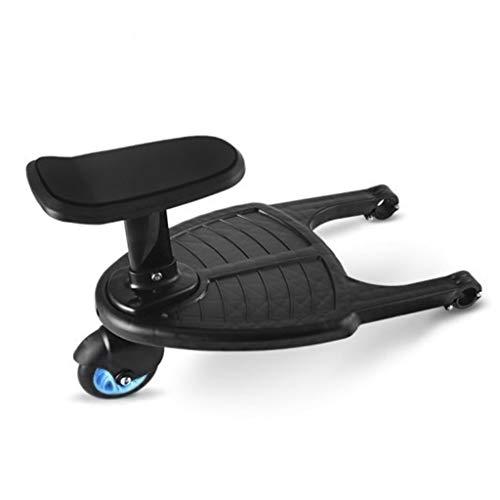 Yinuneronsty Cochecito Pedal Auxiliar Segundo Niño Artefacto Remolque Gemelos Carro De Bebé Dos Niños Placa De Pie Sentado Asiento Cochecito Accesorio
