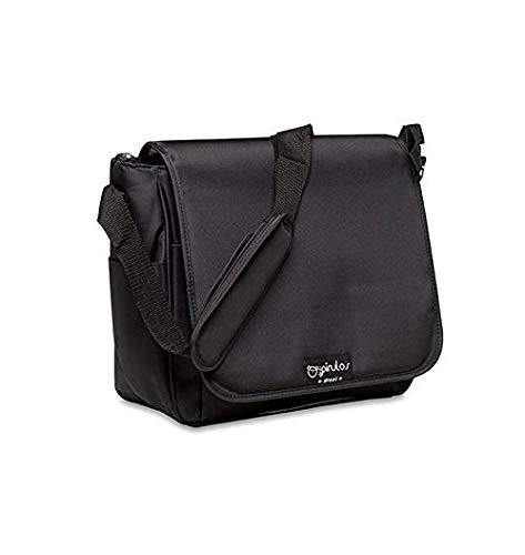 Pirulos Bolso Panera + Cambiador Bebé Portátil Basic con Materiales de Alta Calidad, Medidas 32x14x31cm Color Negro