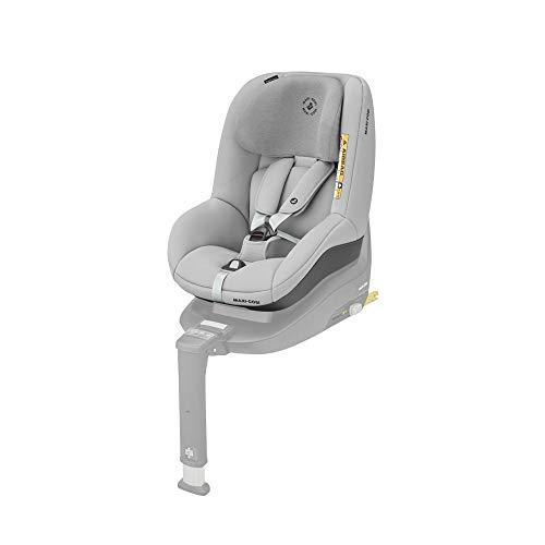 Maxi-Cosi Pearl Smart I-Size Silla coche bebé contramarcha y reclinable, se utiliza en combinación con la base isofix FamilyFix One i-Size, silla auto bebé 6 meses - 4 años, color authentic grey