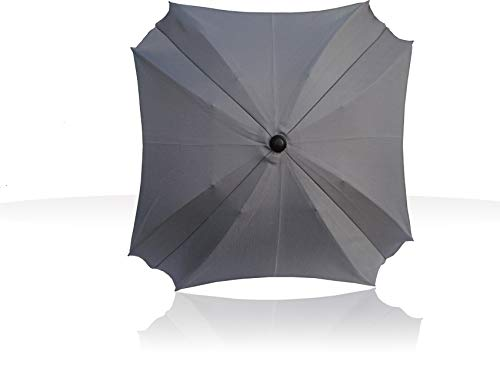 Sombrilla para carritos, con brazo de fijación flexible, con protección UV, 68 cm de diámetro plateado gris