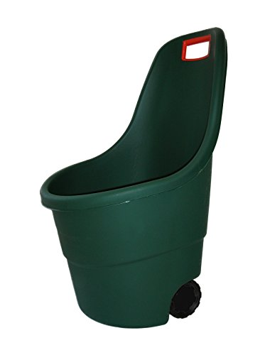 Keter Easy Go 2 - Carro de jardín , Capacidad 55 litros, Color verde