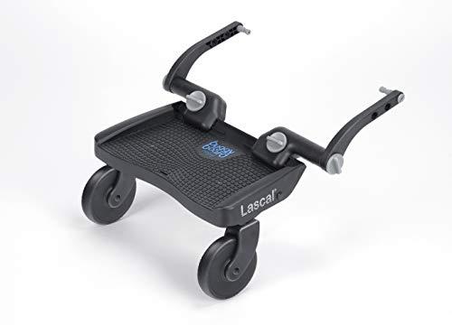 Lascal BuggyBoard Mini 3D Plataforma con ruedas para carrito infantil, accesorio para niños de 2 a 6 años (22 kg), compatible con casi todas las sillitas de paseo, azul