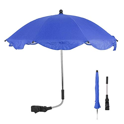 Demeras Cochecito de bebé Sombrilla Sombrilla Impermeable Ajustable Paraguas de Lluvia para niños Carritos de Transporte Bicicletas Bicicletas Cochecitos(Azul)