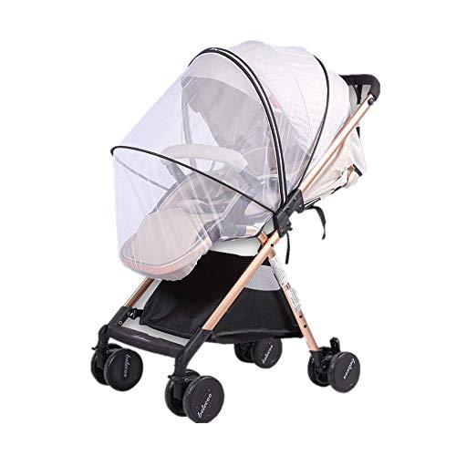 Voarge - Mosquitera universal con cremallera para cochecito de bebé o carrito de bebé, malla fina, resistente a desgarros y lavable; protección ideal contra avispas y mosquitos