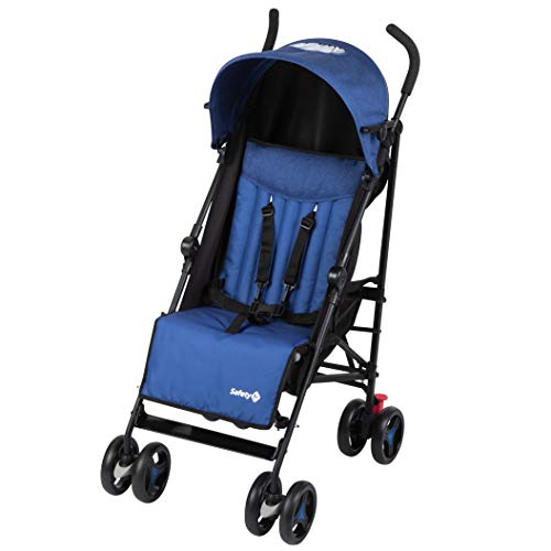 Safety 1st Rainbow Silla de Paseo ultraligera pesa solo 6,6 kg, Plegable y compacta, Reclinable de multi posiciónes, reposapiés adjustable, color blue Chic