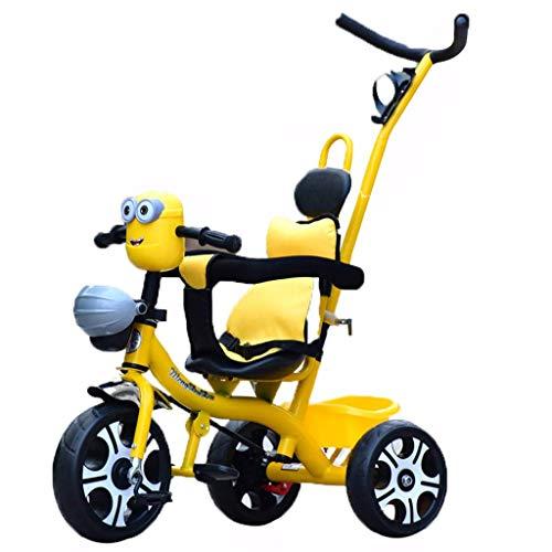 YGB Triciclo, Carrito de bebé con Pedales para niños, Regalos de cumpleaños para niños y niñas de 1-3-6 años para Uso en Interiores y Exteriores (Color: Amarillo)