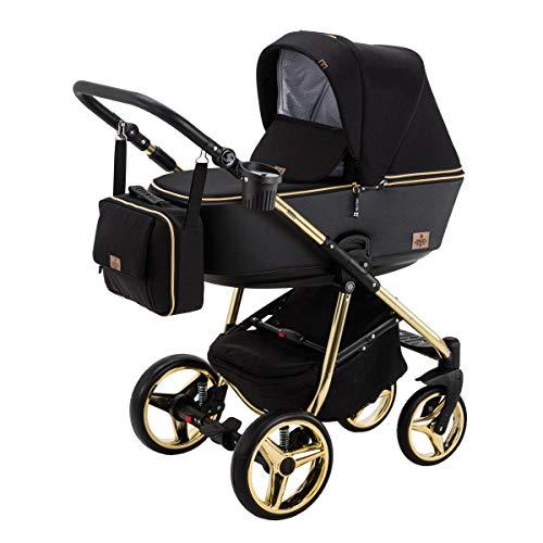 BeBe-Mobile 5902479573588 Gusto Special - Carrito de bebé 2 en 1 con capazo, color dorado