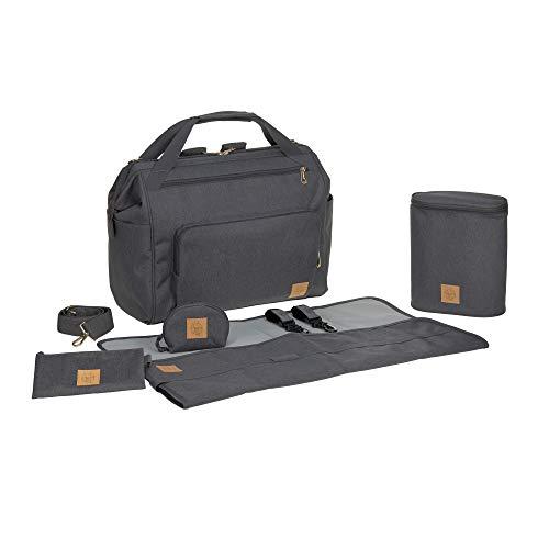 Lässig Goldie Twin Bag - Bolsa para pañales, bolsa de bebé, con función mochila incluida - antracita