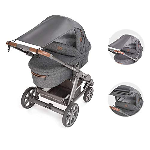 sombrilla carrito bebe universal,toldo para capazo,parasol carrito bebe,parasol carrito protección UV,toldo protector solar (gris)