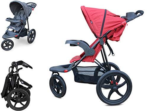PAPILIOSHOP REBEL Silla de paseo cochecito para niño y bebé 3 ruedas (Rojo)