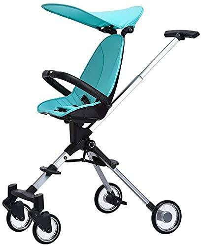 Cochecito liviano portátil para bebés Cochecito liviano plegable para bebés portátiles Carrito de dos vías para niños portátil,camioneta de viaje de cuatro ruedas con sombrilla bebé cochecito cochecit