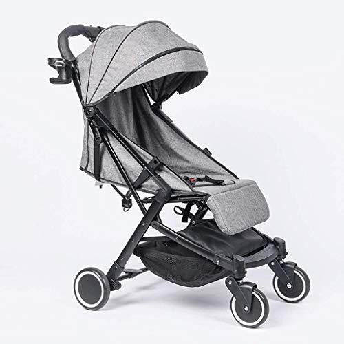 Cochecito de bebé Función de rotación 360, Cochecito de bebé Cochecito de bebé Hot Mom, Sistema de Viaje Asiento para bebés (Color: Gris, Tamaño: A)