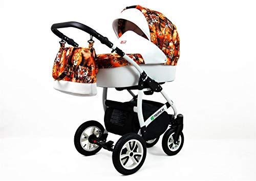 Cochecito de bebe 3 en 1 2 en 1 Trio Isofix silla de paseo Tropic Dream by SaintBaby Wild Cats 2in1 sin Silla de coche