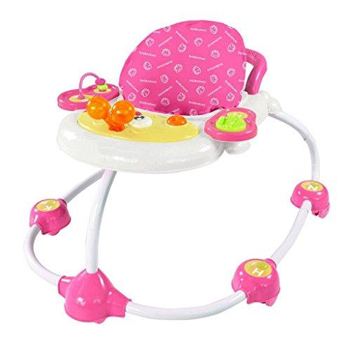 Caminante infantil Caminante infantil en forma de U polivalente en forma de U para evitar a los caminantes con vuelco Andador GAOLILI (Color : Pink)