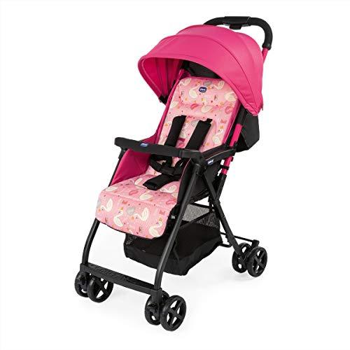 Chicco Ohlala 2 - Silla de paseo ultra ligera y compacta, fácil conducción, solo pesa 3,8 kg, color rosa cisnes (Pink Swan)