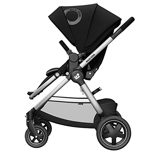 Maxi-Cosi Adorra² Silla de Paseo, Cochecito de Bebé, Sistema de Viaje, Desde el Nacimiento hasta los 4 Años, 0-22 kg, Essential Black