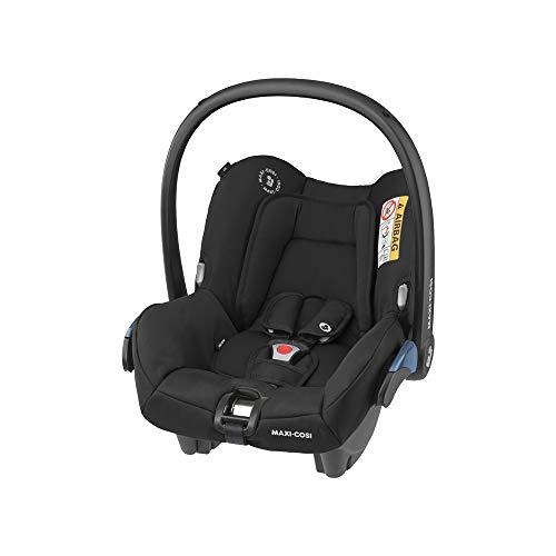Maxi-Cosi Citi, Silla Auto Grupo 0+, Silla coche bebé portátil, bebé recién nacido hasta 12 meses, Color essential black