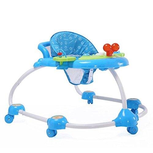 Caminante infantil Caminante infantil en forma de U polivalente en forma de U para evitar a los caminantes con vuelco Andador GAOLILI (Color : Azul)