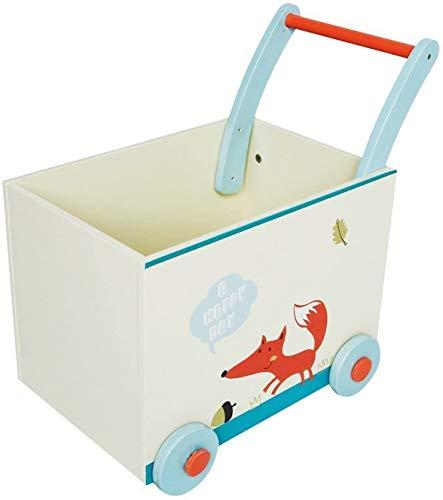 Labebe Andador de Madera, Uso 2 en 1 como Carrito, White Fuchs Andador para 1-3 Años, Sin Caminar Paseador/Andador de Bebé Madera/Andador Andador de Madera/Bebé Madera/Caminar Gratis Andador
