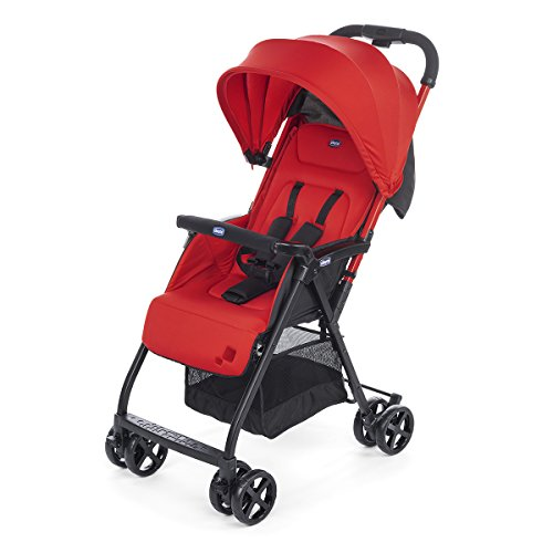 Chicco Ohlala 2 - Silla de paseo ultra ligera y compacta, fácil conducción, solo pesa 3,8 kg, color rojo (Paprika)