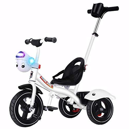 YGB Triciclo de bebé, Carrito de bebé Triciclo para niños 1-3-6 años Cochecito de Juguete para niños Bicicleta Ligera La Mejor opción para Regalos de cumpleaños para niños (Color: Blanco)