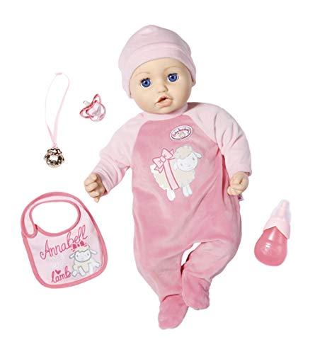 Zapf Creation- Baby Annabell 43cm-Muñeca Funciones Realistas-Suave al Tacto-Come, Duerme y Llora-Incluye Accesorios-Edad: 3+. De Colores-Versión Online (702475)