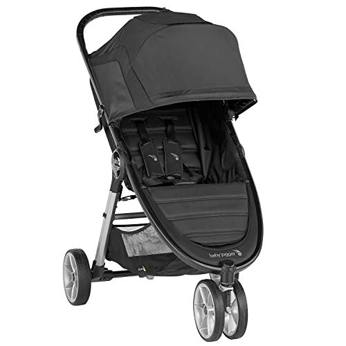 Silla de paseo City Mini® 2 de 3 ruedas Jet de Baby Jogger, desde nacimiento a 22kg. Color negro