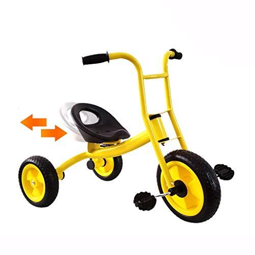 YGB Triciclo de bebé Cochecito para niños pequeños, Triciclo Pedal Bicicleta Jardín de Infantes Juguetes para niños Carrito de bebé Multifuncional Combinación Interior y Exterior (Color: Amarillo)