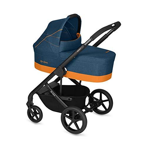 Cybex Gold - Cochecito Balios S con silla reversible y con capazo S, desde el nacimiento hasta 17 kg (aprox. 4 años), tropical blue