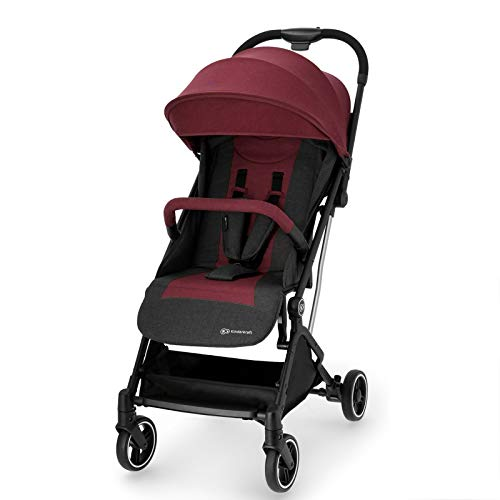 Kinderkraft INDY - Silla Paseo Bebé, Carrito, Impermeable, Plegable, color Granate