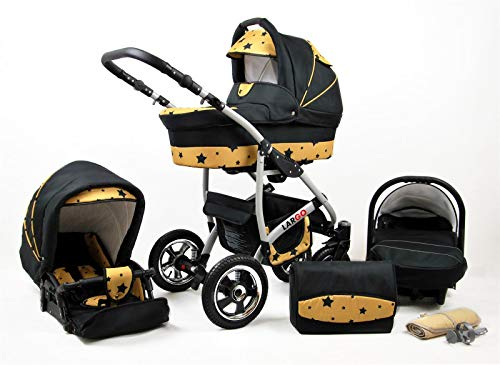 Cochecito de bebe 3 en 1 2 en 1 Trio Isofix silla de paseo New L-Go by SaintBaby Gold Star 2in1 sin Silla de coche