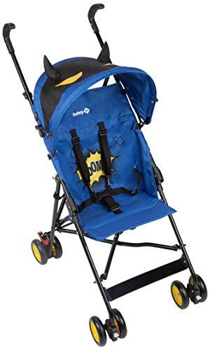 Safety 1st Crazy Peps Silla Paseo ligera, capota con diseño divertito, Plegable y compacta, Pesa 4,6 kg, Super Hero Azul