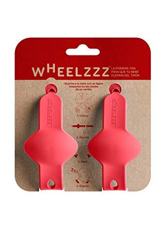 Wheelzzz Duo Elena Red. Ayuda a dormir a tu bebé en su carrito, con un ligero traqueteo. Estés donde estés.