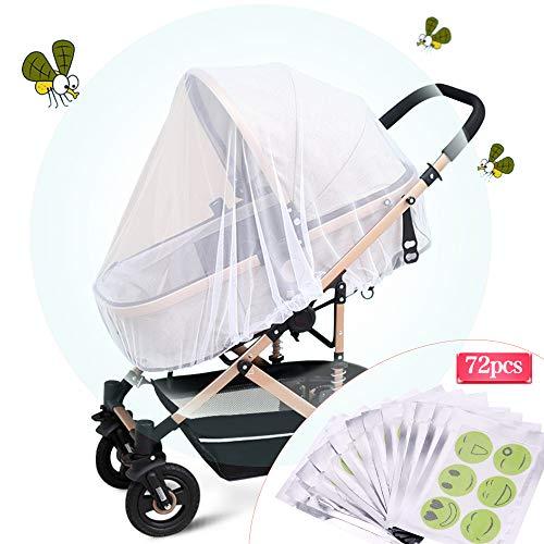 Fabur Universal Mosquitera Carrito Bebé,Mosquitera Bebé silla de paseo y cuna de viaje resistente, Protección Perfecto Elástica y lavable