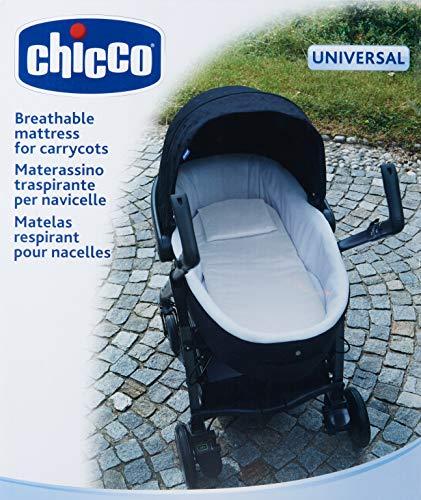 Chicco Colchón universal y transpirable para capazos, color blanco
