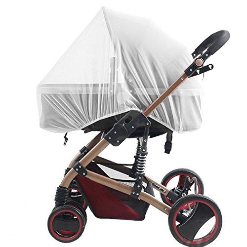 Bebé Mosquitera para carritos, Carriers, asientos de coche, cuna. Se adapta a la mayoría packnplays, cuna, bassinets & playpens, hecho de color blanco, Portátil y duradero bebé insectos malla (Pure)