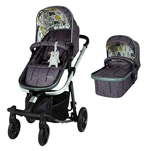 Cosatto Giggle Quad Pram & Pushchair – From Birth to 20kg, Lightweight, Compact Fold, Duo-directional Seat (Fika Forest)