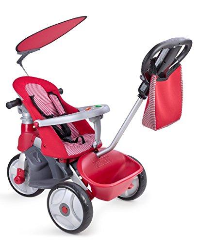 FEBER- Baby Trike Easy Evolution, Triciclo, Color Rojo, 24.9 x 14.0 x 11.9 (Famosa 800009473)