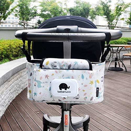 Bolsos Carro Bebé Universal Gran Capacidad Bolsas Organizador Carro Silla Paseo (Pájaro)