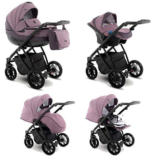 Cochecito de bebe 3 en 1 2 en 1 Trio Isofix silla de paseo Zeo by SaintBaby Berries Zeo-6 4in1 con Isofix + Silla