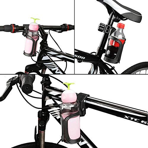 Portavasos para cochecito Portavasos para bicicletas Universal Portavasos Carrito Bebé Cochecito Portavasos universal con 360 grados de rotación para cochecitos o sillitas de bebé (Negro 360)