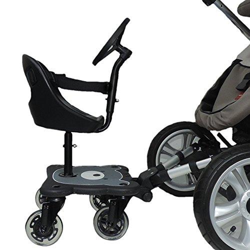 Eichhorn Cozy S Rider Asiento para cochecito, Niños, Edad recomendada 6 meses - 3 años, Color Negro