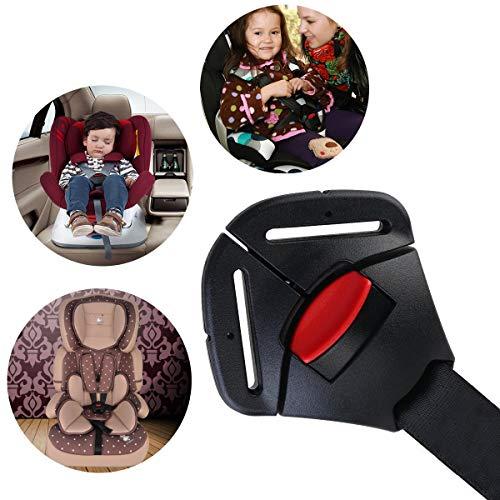 MuStone Car Baby Safety Clip de asiento Hebilla de bloqueo fijo, Seguro para el asiento Correa del cinturón Arnés Pecho Clip de hebilla para niños Cierre de la abrazadera para niños pequeños (Negro)